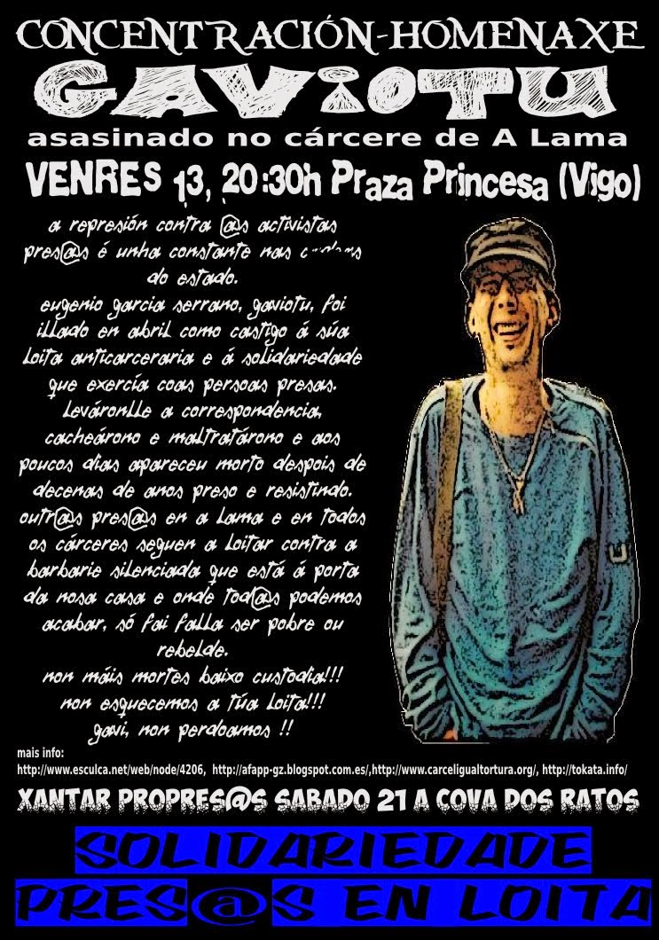 """Concentración Homenaxe """"Gaviotu"""". Vigo  13-06"""