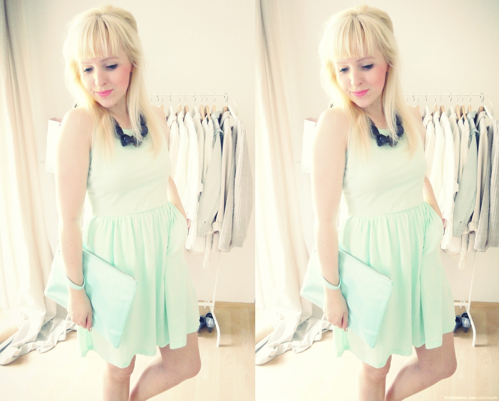 haarschnitt sonnenschein und ein mintfarbenes kleid. Black Bedroom Furniture Sets. Home Design Ideas