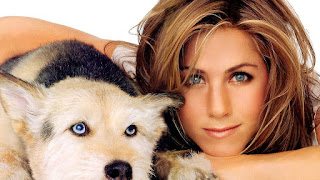 Jennifer Aniston photo with dog