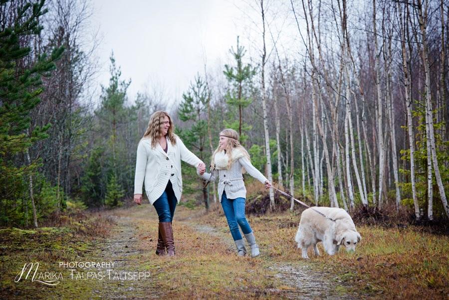 ema ja tütre fotosessioon