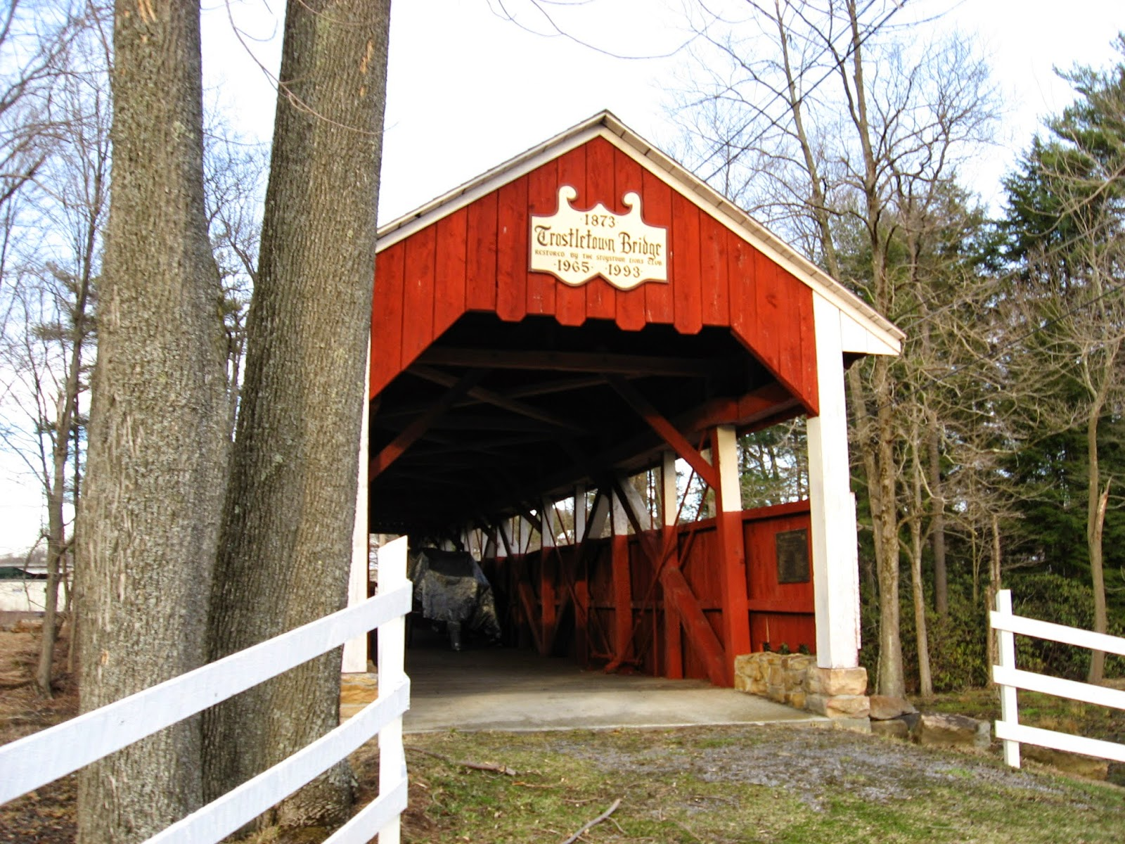 Trostletown Covered Bridge, Stoystown, PA
