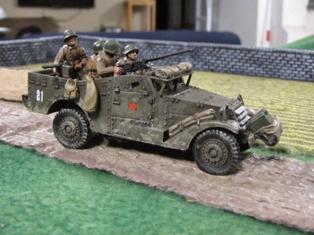 craig 39 s wargaming blog ba soviet m3a1 scout car. Black Bedroom Furniture Sets. Home Design Ideas