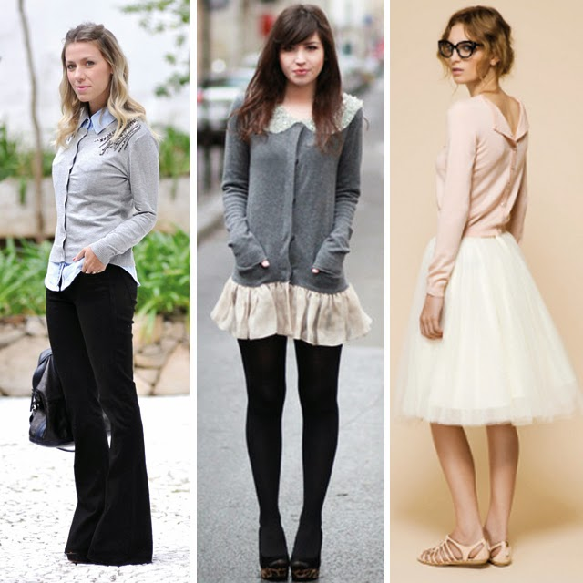 como usar, estilo, looks, produções, neutros, básico, clássico, betty cardigans