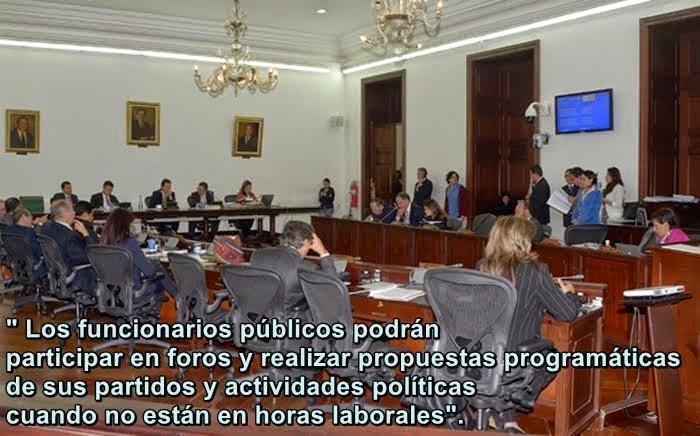 COLOMBIA: Participación Política de funcionarios públicos: En Comisión Primera - Senado