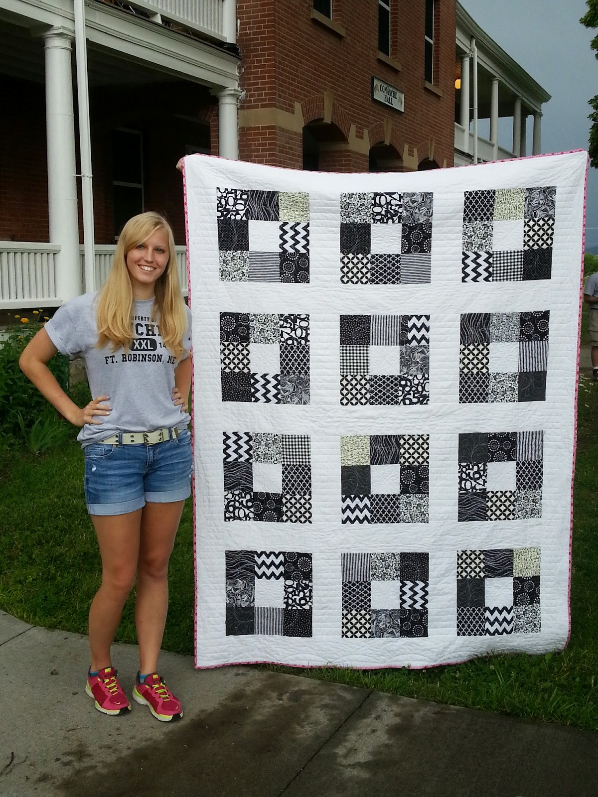 Black and White Charm Square Quilt