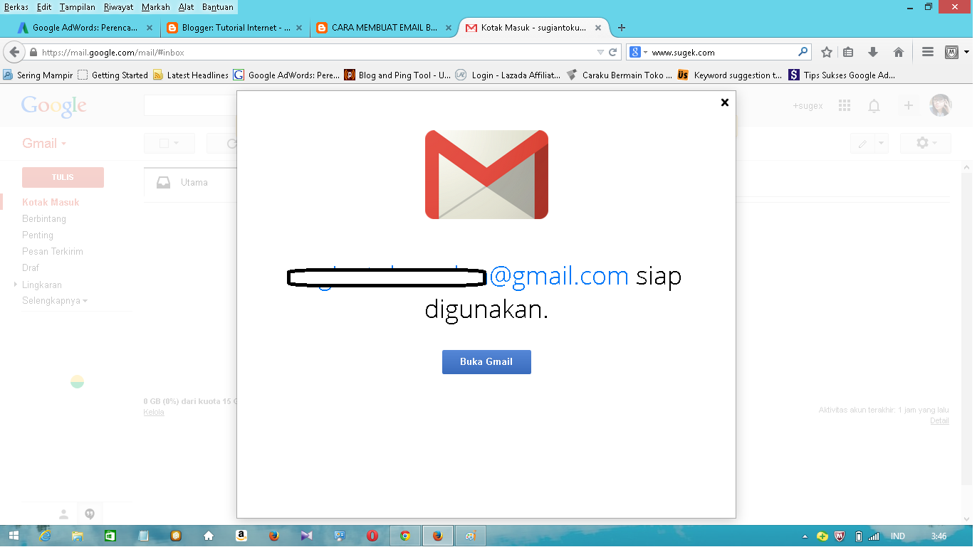 buat email