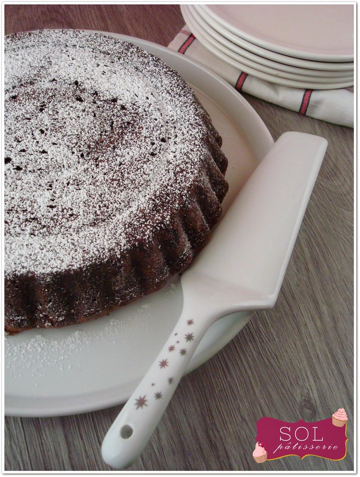 Caprese al cioccolato Gâteau au chocolat italien - Bolo de chocolate italiano