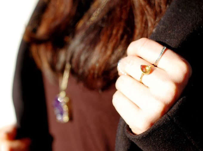 OhKuol Jewelry citrine ring