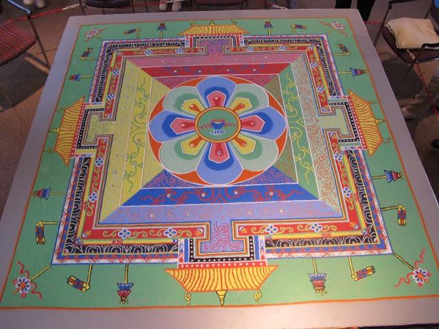 Medizin Buddha, Sandmandala, Bad Dürrheim DE,