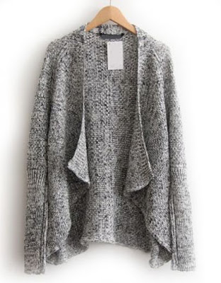 Model Sweater Cardigan Rajut Wanita Abu - ABu