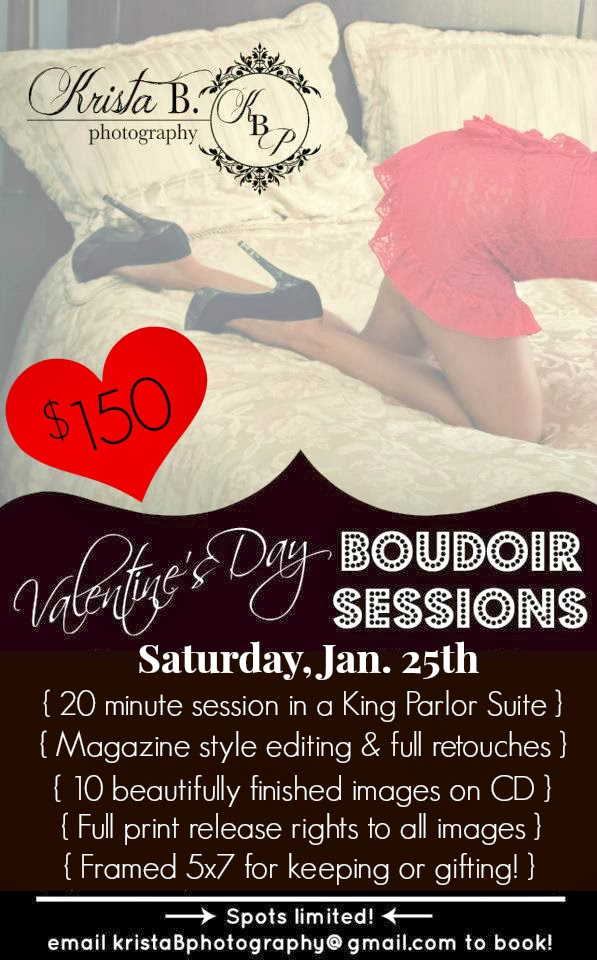 Krista B Photography Valentines Day Boudoir Special 2014