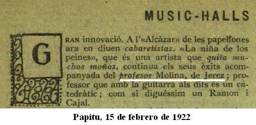 papeles flamencos: la niña de los peines con javier molina en