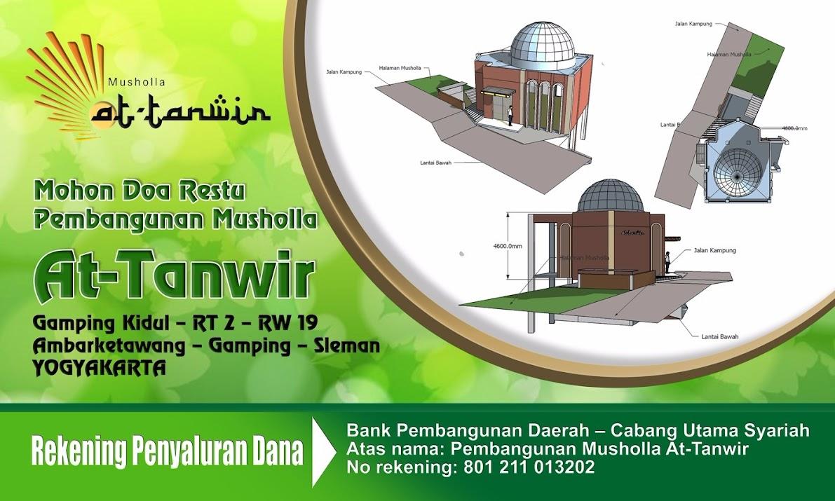 Musholla At-Tanwir Gamping Kidul Rt 02, Rw 19, Ambarketawang, Gamping, Sleman, Yogyakarta.