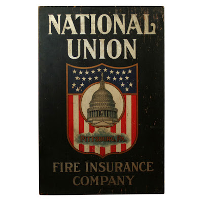 Trade Sign: National Union Fire Insurance Company 1900