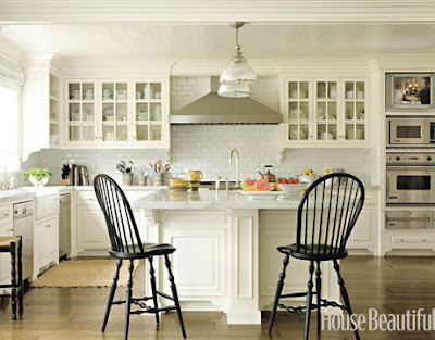 white cabinets, wood floor, classic