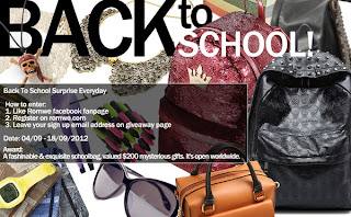 Romwe Back to School Giveaway $100 Freebies