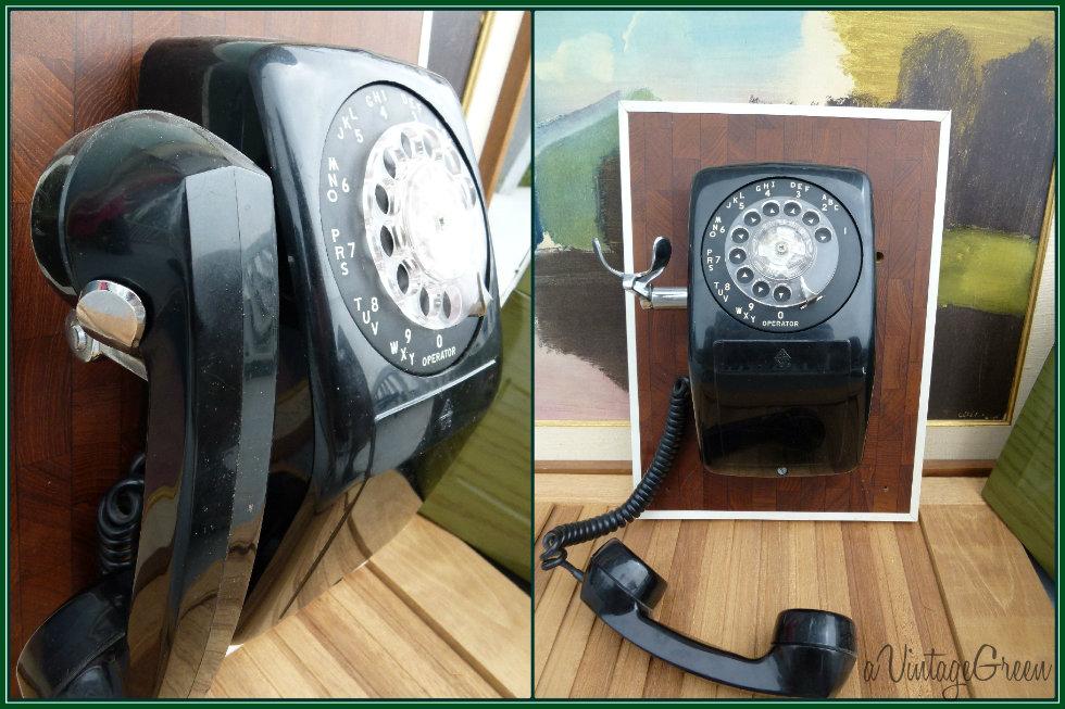 Rotary Dial Black Telephones Circa 1950u0027s, 1960u0027s