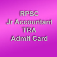 Rajasthan Jr Accountant Hall Ticket 2015