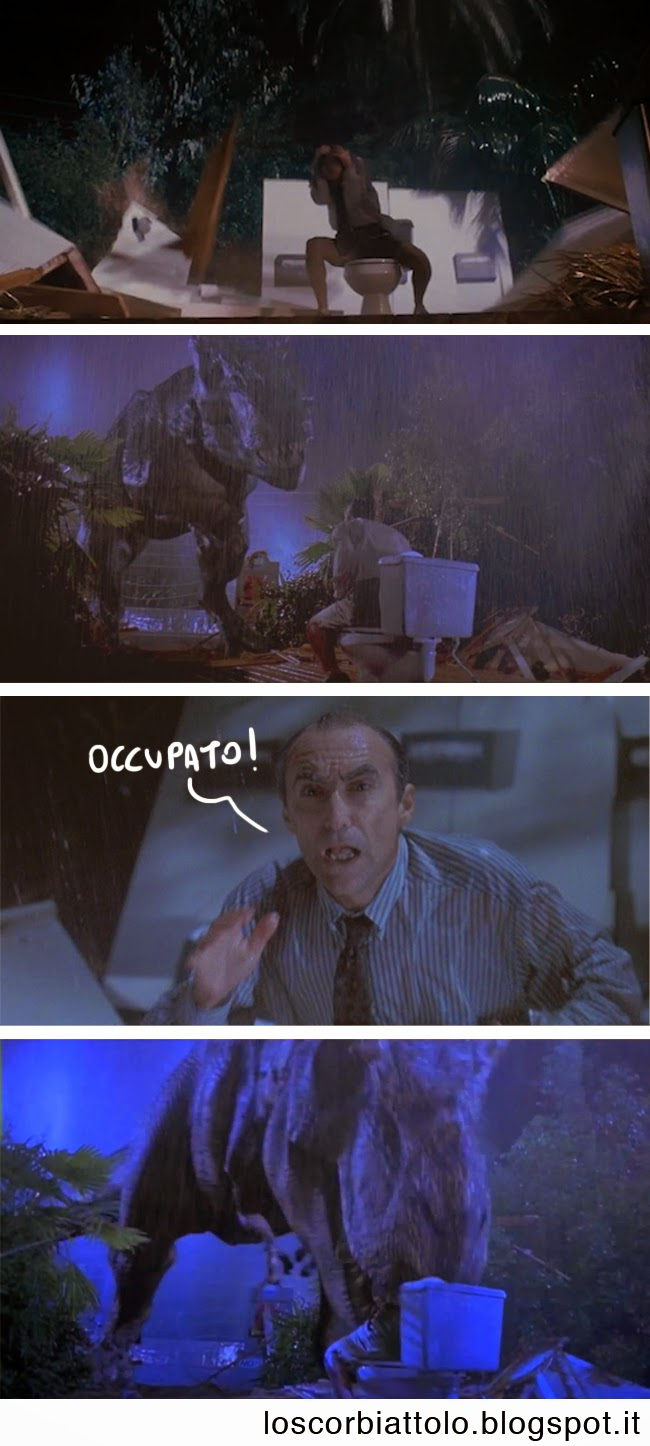 comic strip jurassic park wc