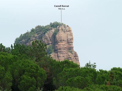 El Castell Bernat des de Morgaders