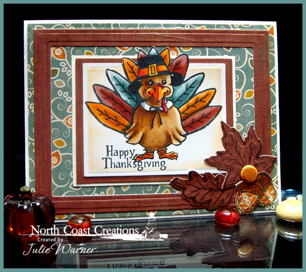Stamps - North Coast Creations Tommy Turkey, Our Daily Bread Designs Autumn Tree, Our Daily Bread Designs  Autumn Blessings, Our Daily Bread Designs Custom Fall Leaves & Acorns Dies