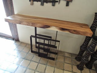 wood console, Acacia wood