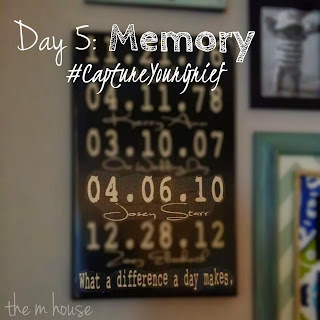 Capture Your Grief: Day 5 | The M House