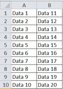 Excel Data