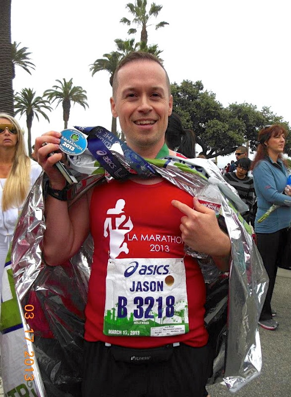 LA Marathon 2013 Finisher medal