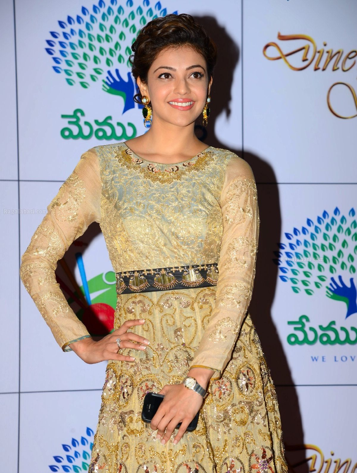 HD Images of Kajal Agarwal at Memu Saitam Dinner