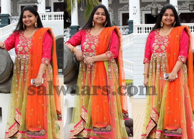 Gopichand Wife Reshma Long Salwar