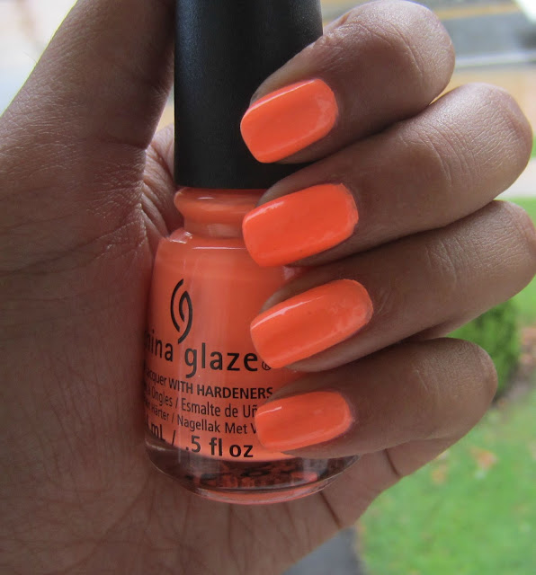 china glaze sun  of a peach nail polish swatch