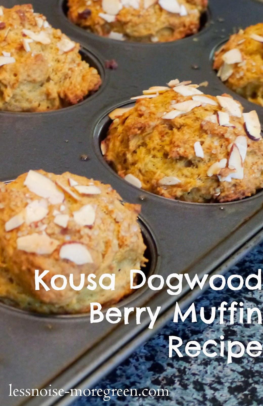 Kousa Dogwood Berry Muffin Recipe