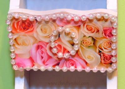 decoupaged letter holder makeover / www.thriftyrebel.som