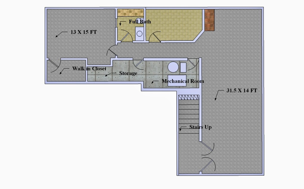Charlie and jenny gaona 39 s blog june 2014 for Basement floor plans with stairs in middle