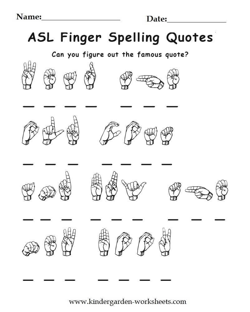 Bright image with asl printable