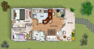 Plantas de casas modernas gr tis for Casa moderna 7x20