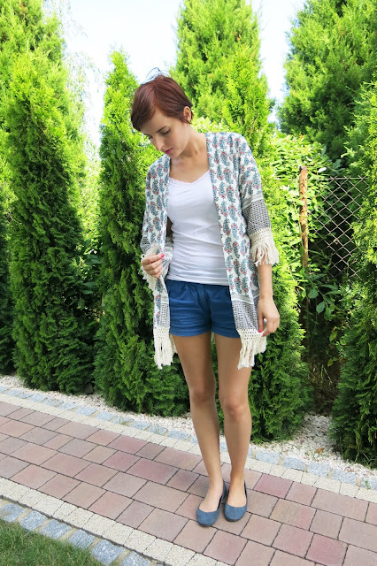 SheIn - kimono oraz bluzeczka.