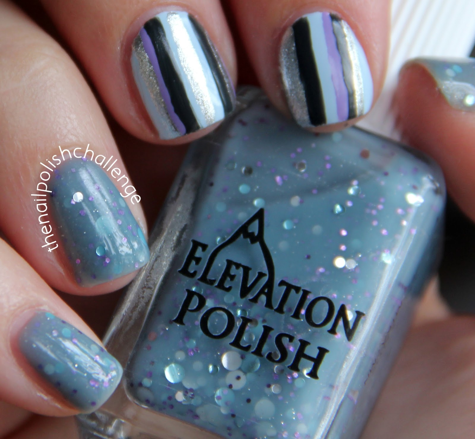 Concrete And Nail Polish Striped Nail Art: Kelli Marissa: Striped Nail Art With Elevation Marmolada