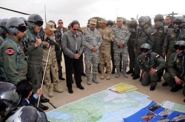 الرئيس عبد الفتاح السيسي يتفقد الحدود مع ليبيا ويتعهد بالرد