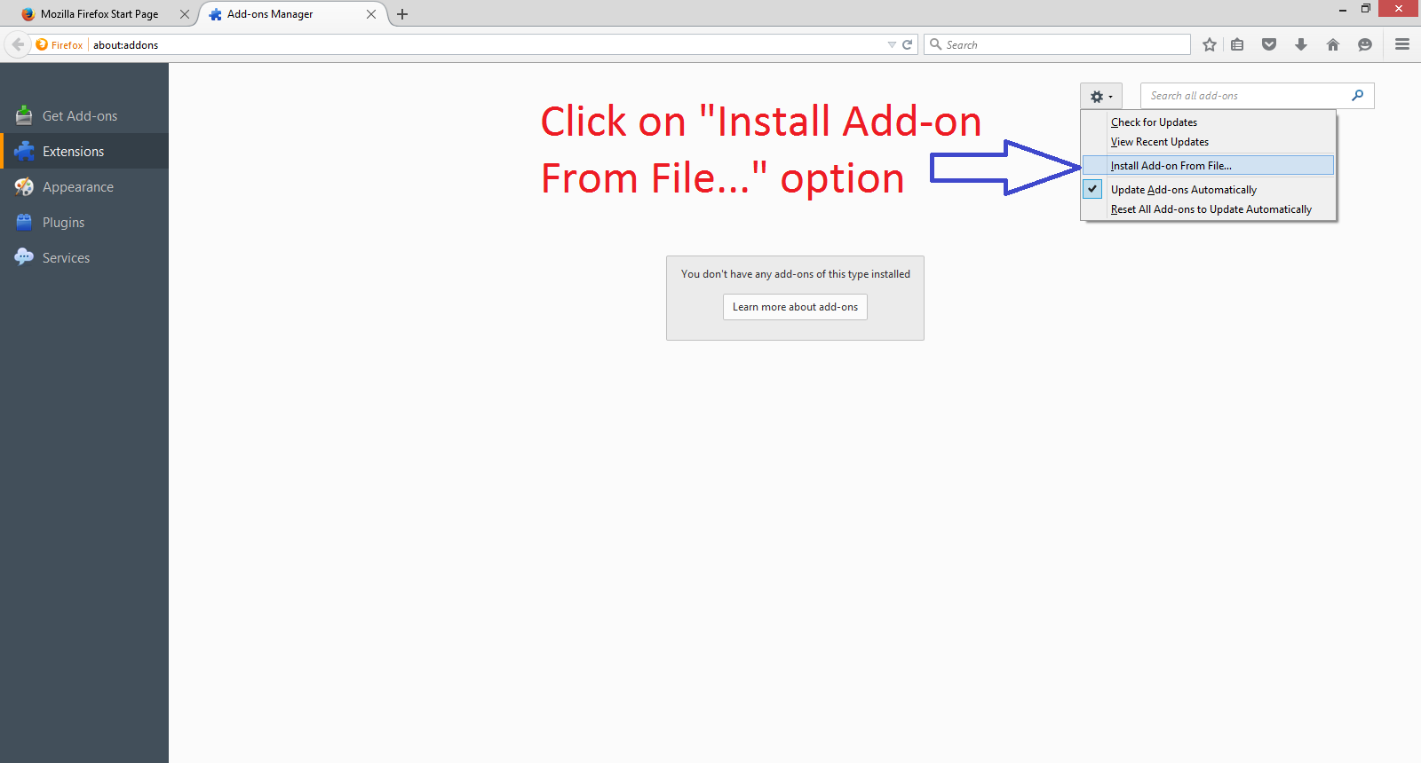 Solved how to access any blocked website on mozilla firefox add ons setting page ccuart Gallery