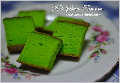Kek Span Pandan
