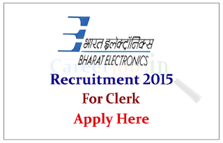 Bharat Electronics Limited Recruitment 2015 for the post of Clerk cum Computer Operator