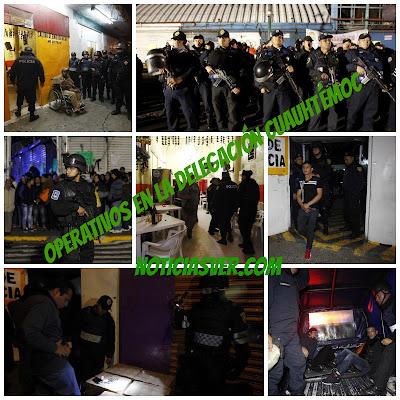Operativos en la delegación Cuauhtémoc, detienen narcomenudistas