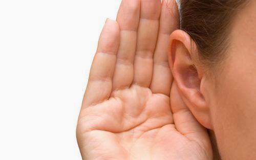 lock i båda öronen
