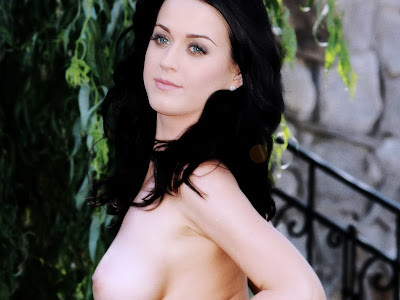 Katy Perry topless in the park