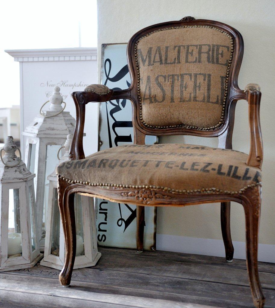 En mi espacio vital muebles recuperados y decoraci n - Tela para tapizar sillas ...
