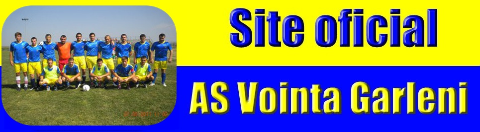 AS Vointa Garleni- Bine ati venit pe site-ul oficial al echipei !
