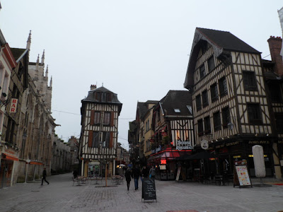 Wooden fronted houses in Troyes, France