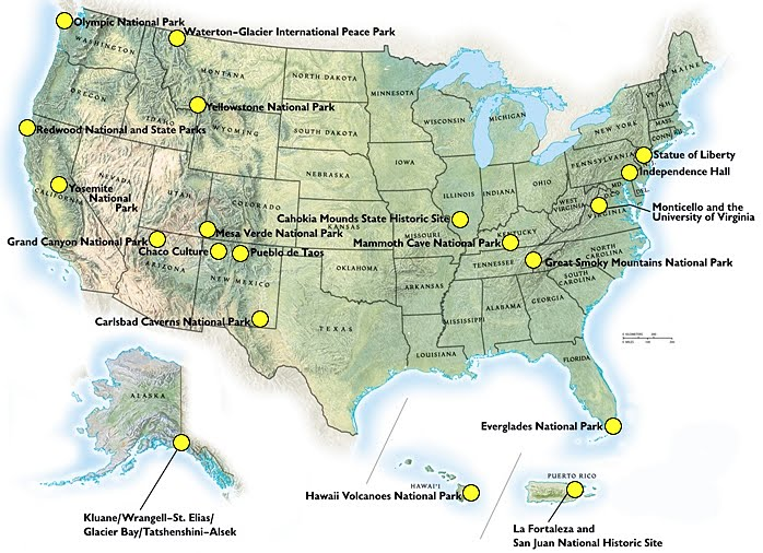Family Vacations Worth Taking World Heritage ParksA Global Legacy - Us map independence